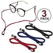 Sports PU Leather <b>Glasses</b> Strap, Zingso 3 Pcs Multi-<b>Color Classic</b> ...