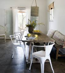 rustic metal dining chairs white