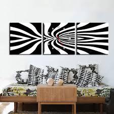 <b>E</b> - <b>HOME Canvas</b> Wall Clock Creative Design Black Pattern 3PCS ...