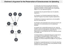philosophical disquisitions  chalmers concludes the suggestion that all of this points to the likelihood of consciousness being an organizational invariant
