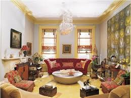 beautiful red cream living room cozy living room furniture brown varnished wooden chair with cream fab