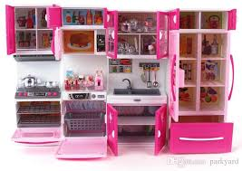 pink toy kitchen set kawaii kitty small sizethe material is plastic and the back board is paperwith soun