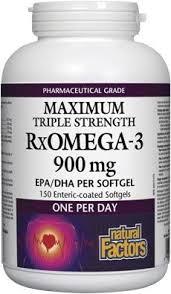<b>Natural Factors</b> - <b>Rx Omega-3</b> 900 mg - 150 Softgels: Amazon.ca ...