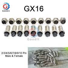 <b>1set GX16 2/3/4/5/6/7/8/9</b>/10 <b>Pin</b> Male & Female 16mm L70 78 ...