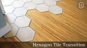 Hexagon Tile Floor Patterns Hexagon Tile To Hardwood Floor Transition Youtube