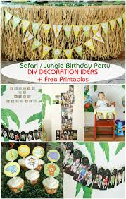 safari jungle themed first birthday party part i dessert ideas safari jungle themed first birthday party part iii diy decoration ideas printables included