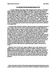 way poetry comparative essay  stages of life thesis  gcse