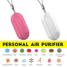 Small Portable Personal Air Purifier Wearable Around the <b>Neck</b> ...