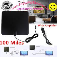 Flat Indoor <b>Digital TV</b> Antenna 100 Mile Range <b>1080P HD</b> Signal ...