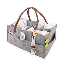 Foldable <b>Felt Storage Bag</b> Diaper Caddy Organizing Children Toys ...