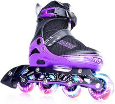 Adjustable Inline Skates Roller <b>Blades Unisex</b> Adult Kids <b>Breathable</b> ...