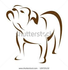 Vector image of an dog (<b>bulldog</b>) on <b>white</b> background ...