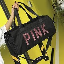 <b>2019</b> New Women Men Black Travel <b>Bag</b> Pink <b>Sequins</b> Shoulder ...