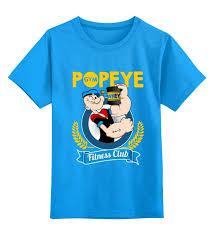 Детская <b>футболка классическая</b> унисекс <b>Printio Спортзал</b> Попайя ...