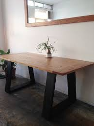 minimalist square recycled wooden dining recycled timber large desk small dining table with contrast angled bla