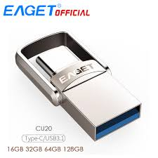 <b>EAGET CU20</b> Metal USB 3.0 Flash Drive Memory Stick OTG <b>Type C</b> ...