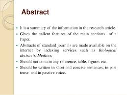 Research paper abstract apa