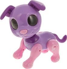 Интерактивная <b>игрушка 1TOY</b> Робо- пес, Т14337, фиолетовый ...