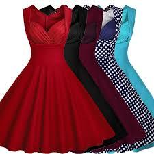 <b>Women Summer</b> Dress <b>Vestidos</b> Casual Vintage Print Polka Dot ...