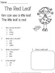 Squirrel, Comprehension and Reading comprehension on PinterestFALL READING FREEBIE for beginning readers! Great way to introduce multiple choice questions!