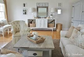 diy thrifty farmhouse family room makeover shabby chic chic family room decorating