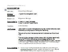 project manager job descriptionssenior project manager jd   thumbnail  job description
