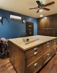 fireproof safes home office traditional with animal skulls antlers blue walls built in storage butcher block atlanta closet home office