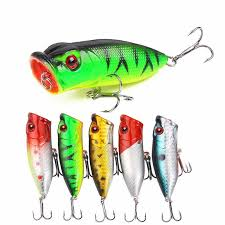 <b>1PCS</b> Diving <b>Fishing Hard</b> Plastic <b>Popper Fishing</b> Lures Baits 6CM ...