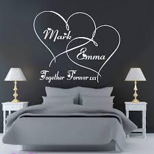 Индивидуальная Наклейка на стену для спальни forever heards ...