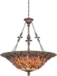 Dining Room Light Fixture Tiffany Style <b>Stained Glass</b> Chandelier ...
