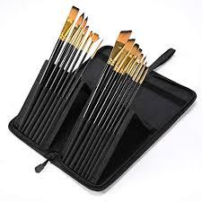 CONDA 15 pcs Acrylic Paint Brushes with case Artist ... - Amazon.com
