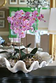 day orchid decor: how to make artificial clam shell orchid arrangement