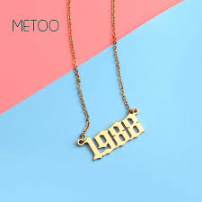 <b>METOO 2019</b> Engraved <b>Name</b> Necklace with Birthstone Copper ...