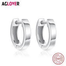 <b>100</b>% Genuine Real Pure Solid 925 <b>Sterling Silver</b> Hoop Earrings ...