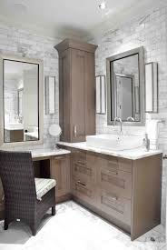 built bathroom vanity design ideas: design galleria custom sink vanity built into corner of bathroom lower make up area