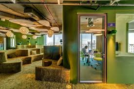 green office ideas with awesome decor on seating furniture and wall awesome unique green office design