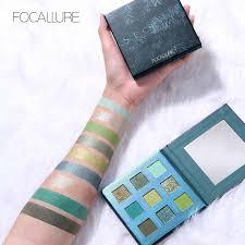 FOCALLURE <b>9 Colors Eyeshadow</b> Palette Matte Glitter Powder for ...