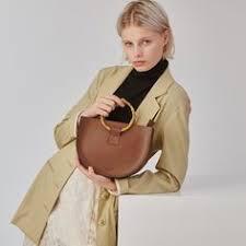Sac chaînette en cuir <b>lisse</b> Argent by PETITE MENDIGOTE | Leather ...
