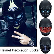 MOAOTO <b>Removable</b> Motorcycle <b>Helmet Decoration Sticker</b> ...
