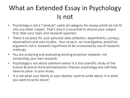 """what is psychology the ib defines psychology as """"the systematic  what an extended essay in psychology is not psychology is not a """"residual"""""""