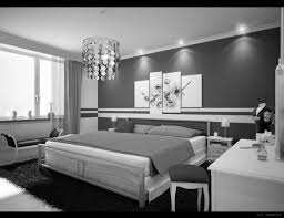 bedroom silver steel bed with white bed sheet and white wooden dressing table with black black white style modern bedroom silver
