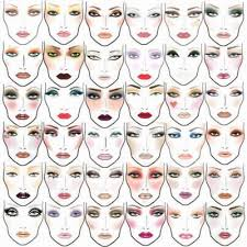 diffe eye and face makeup face chart practice makes perfect you can print them