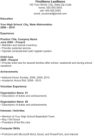 example for high school students  seangarrette co  resume samples for high school students with work experience