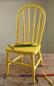 vintage bentwood childs chair old chippy yellow paint long bow back 1940s 4500 antique deco wooden chair swivel