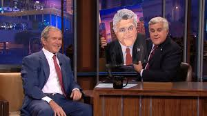 former president bush displays painting prowess on leno com