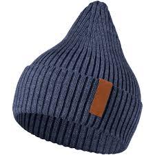 <b>Шапка Stout</b>, синий меланж с логотипом - купить в Санкт ...