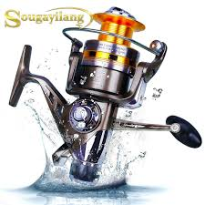 Spinning Carp <b>Fishing Reel Double</b> Drag Metal Spool Bait Runner ...