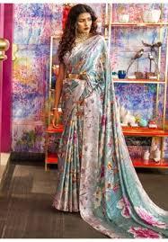 <b>Floral Print</b> Sarees - Buy <b>Designer</b> Floral Sarees Online USA