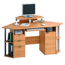 appealing simple corner computer desk with natural varnished f mahogany wood along drawers and small cabinet interior design amazing computer furniture design wooden computer