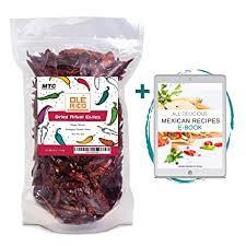 Chilis De Arbol 4 oz Spicy Heat Natural Whole Dried ... - Amazon.com